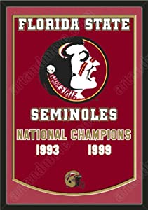 Dynasty Banner Of Florida State Seminoles With Team Color Double Matting-Framed... by Art and More, Davenport, IA