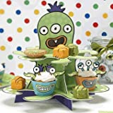 Ginger Ray Monster Party Cupcake Stand - Monster Madness