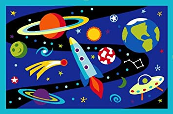 Out of This World 19-by-29-Inch Nylon Rug