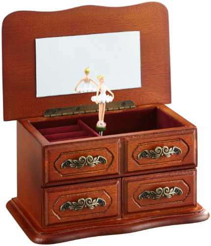 Musicboxworld Wooden Cabinet Ballerina Playing