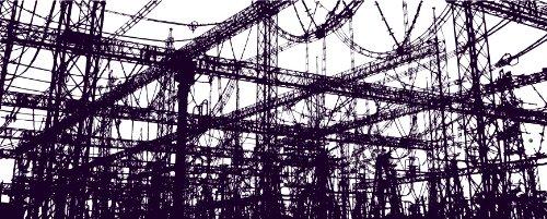 変電所手ぬぐい|放電パープル+手ぬぐいミニブックセット【マニアパレル、ドボク系】