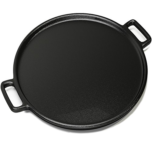 Cast Iron Pizza Pan 14 Inch - Evenly Bakes and Heat Your Pizza (Deep Dish Cast Iron Frying Pan compare prices)
