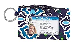 Vera Bradley Zip ID Case in Ink Blue