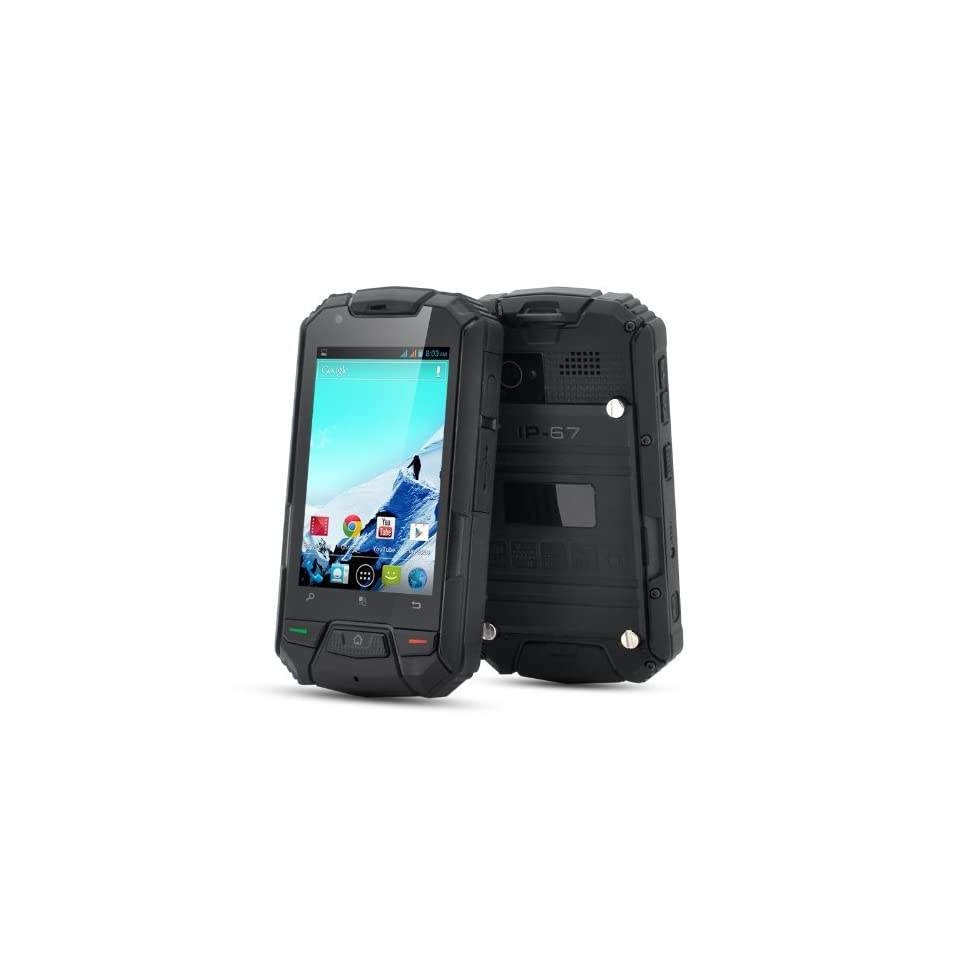 3.5 Inch Rugged Android Phone  Dual Core, 960x640 Screen, Waterproof (Black)