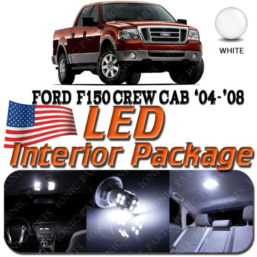 Super White 10 Light Bulbs Led Smd Interior Package - Ford F150 (Crew Cab 4 Door Only) 2004-2008