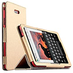 Elite Premium Flip Case Cover for Dell Venue 8 3840 (2014) Android & Venue 8 Pro Windows Tablet (Gold) (Check All Images before Buying)