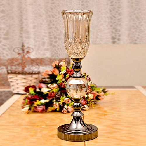 Western Style Crystal Glass Vase Decoration , S (No Flower)