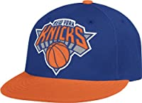 NBA New York Knicks Flat Brim Flex Fit Wool Hat, Small/Medium from Adidas