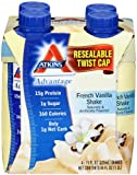 Atkins Ready To Drink Shake, French Vanilla, 11-Ounce Aseptic Containers, 12 Count