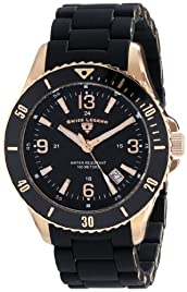 Swiss Legend Men's 93608-RG-11 Luminoso Analog Display Swiss Quartz Black Watch