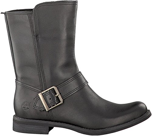 Timberland Savin Hill Mid Zip Ladies Boot Black Smooth