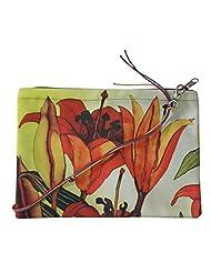 Leaf Designs Black & Yellow Floral Sling Bag