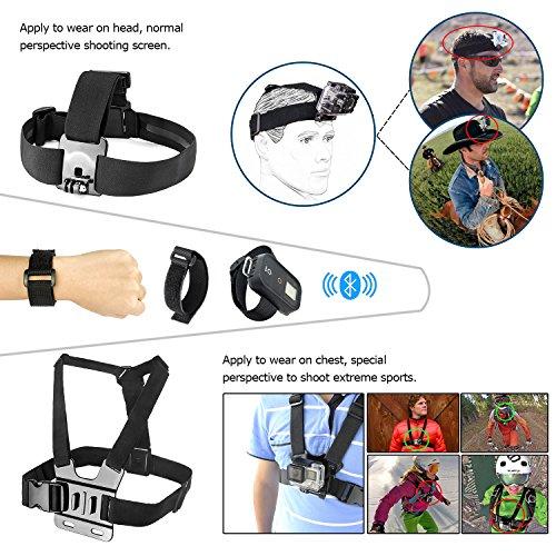 Zookki-Accessori-Kit-per-GoPro-Hero-5-4-3-3-2-1-Black-Silver-and-SJ4000-SJ5000-SJ6000-Accessori-Macchina-Fotografica-di-Azione-per-gli-Sport-Esterni-per-LightdowXiaomi-YiWiMiUSDBPOWER