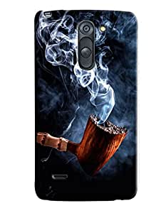 Blue Throat Cigar Inspired Hard Plastic Printed Back Cover/Case For LG G3 Stylus
