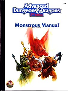 Monstrous Manual (AD&D 2nd Ed Fantasy Roleplaying Accessory, 2140) by Doug Stewart and Jeff Easley