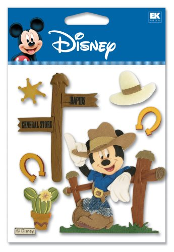 Ek Success Disney DJBV06 Western Mickey 3-D Sticker