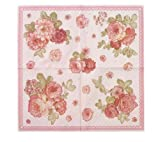 Floral Print Paper Napkins, Set of 30