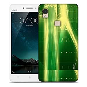 Snoogg green crystal in the grid 2638 Designer Protective Back Case Cover For Vivo V3 Max