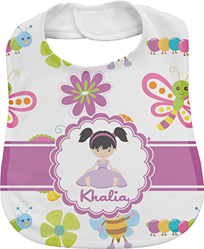 Butterflies Personalized Bib front-325722