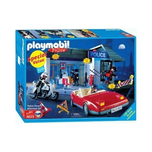 Amazon.com: Playmobil 3623 Police Special Value Set - Police Chase