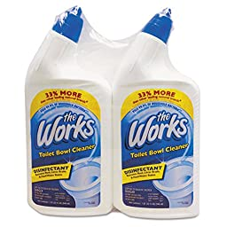 The Works KIK 33302WK Disinfectant Toilet Bowl Cleaner, 32 oz. Spray Bottle (Pack of 12)