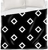 Thumbprintz Duvet Cover, King, Black and White Diamonds