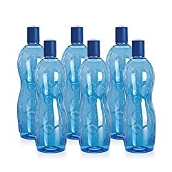 Cello Polka PET Bottle Set, 1 Litre, Set of 6, Blue