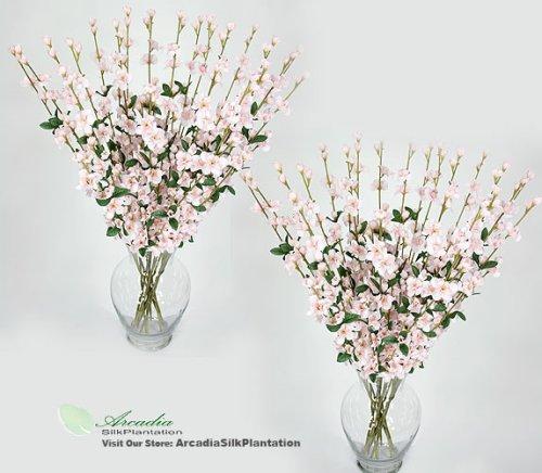 "24 pieces of 27"" Cherry Blossom Artificial Silk Flower Sprays Pink"