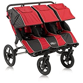 Baby Jogger Summit 360 Triple Jogging Stroller, Red Black
