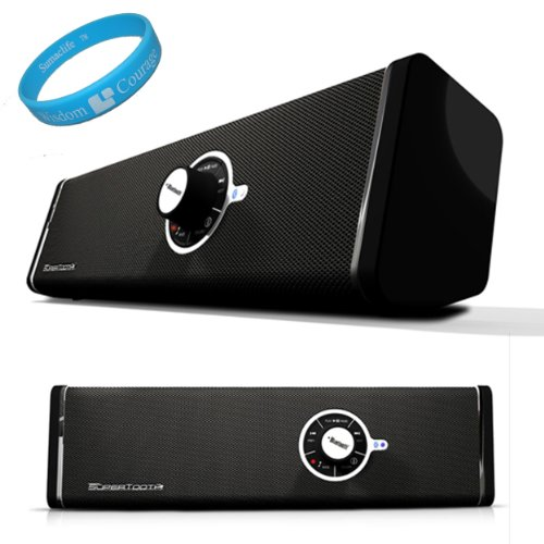 Multimedia Disco Bluetooth Speakers for T-Mobile HTC One S / HTC Ville Android Wireless Mobile Smartphone + SumacLife TM Wisdom*Courage Wristband