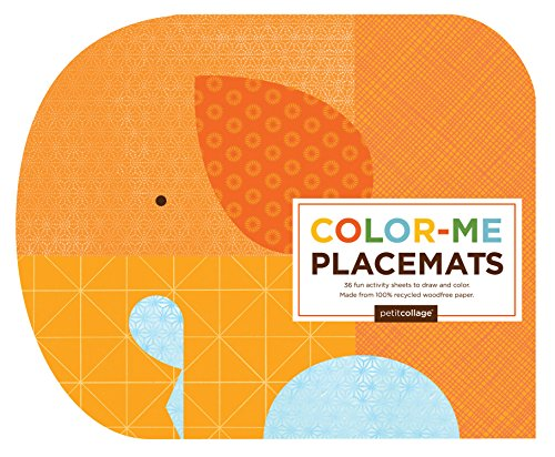Petit Collage Color Me Placemats, Safari