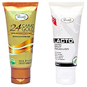 Luster Lacto Dark Spot Remover Cream & Gold Face Pack