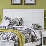 Queen Size Headboard Contemporary Style in White Finish