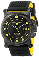 Swiss Legend Men's 40030-BB-01-YA Sportiva Black Textured Dial Black and Yellow Silicone Watch from Swiss Legend