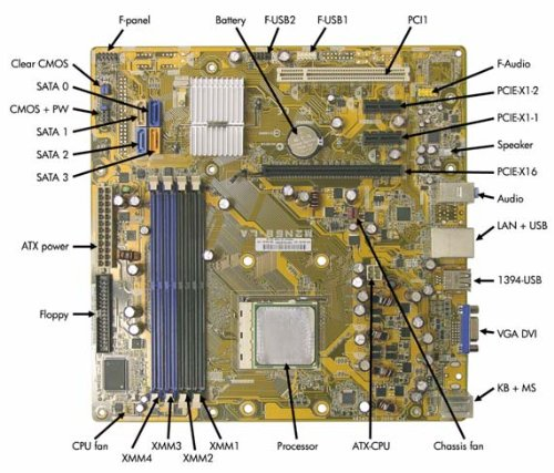 Click to buy 462798-001 - System Board Socket AM2 W/O CPU Compaq Business Desktop dx2450 - From only $95