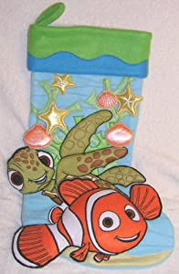 Disney Finding Nemo and Squirt Large Christmas Stocking From Disney Resorts