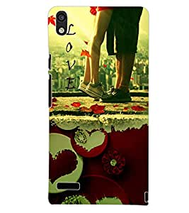 PrintDhaba PURE LOVE D-6573 Back Case Cover for HUAWEI ASCEND P6 (Multi-Coloured)