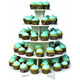 "The Smart Baker ""As Seen on Shark Tank"" 5 Tier Round PVC Cupcake Tower Stand"