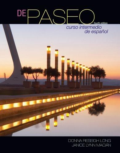 De paseo: Curso intermedio de espanol (Available Titles...
