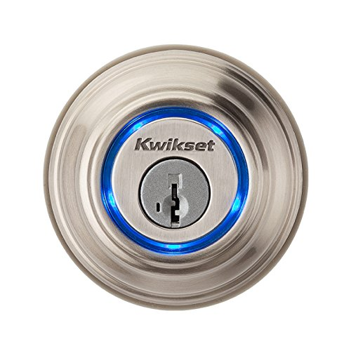 Kwikset 925 Kevo Single Cylinder Bluetooth Enabled Deadbolt For Iphone 4S And Higher Satin Nickel