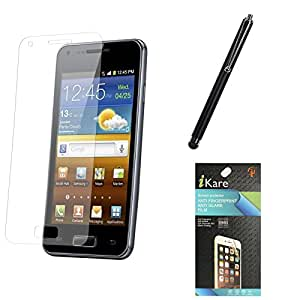 iKare Ultra Clear Pack of 5 Anti-Glare Anti-Scratch Anti-Fingerprint Screen Protector for HTC One M7 + Touch Screen Stylus