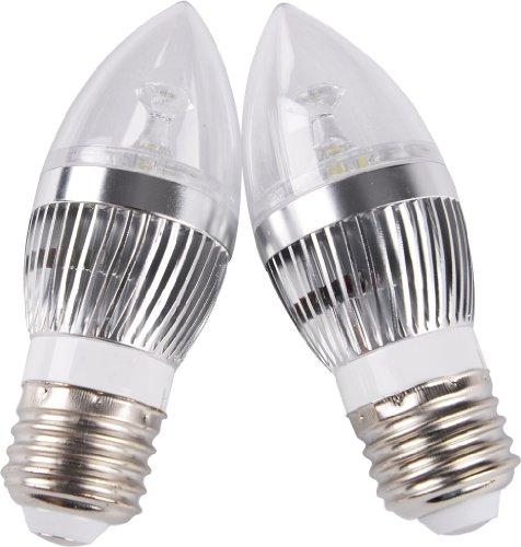 Dele Cool White E27 E26 3W 3X1W High Power Led Chandelier Candle Light Bulb Lamp 110V-240V