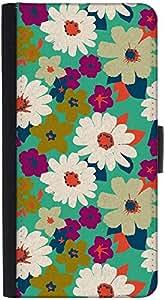 Snoogg Vintage Flowersdesigner Protective Flip Case Cover For Htc M8