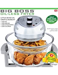 BIG BOSS 1300-Watt Oil-Less Fryer, 16-Quart by BIG BOSS