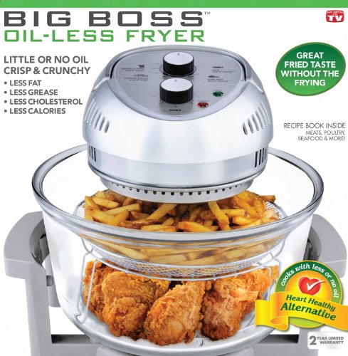 Big Boss 1300-Watt Oil-Less Fryer, 16-Quart