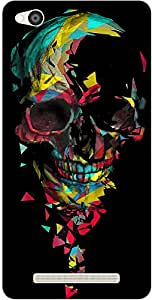 The Racoon Grip Broken Skull hard plastic printed back case / cover for Xiaomi Redmi 3