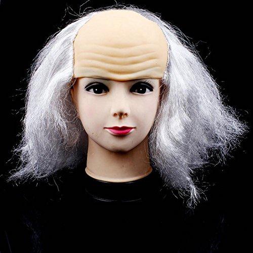 testa-calva-vecchio-di-uomo-di-partito-di-halloween-parrucca