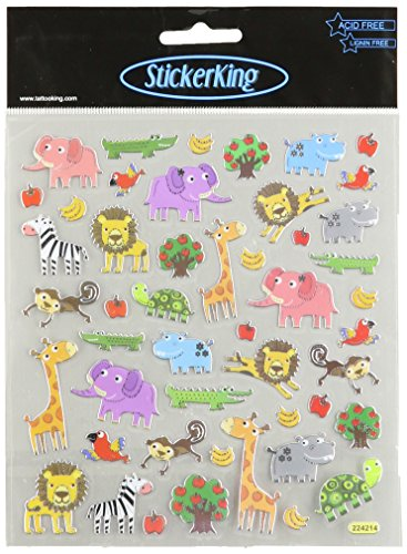 Multi-Colored Stickers-Zoo Fun