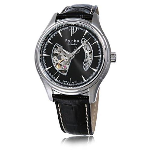 (フルボデザイン)Furbo Design 腕時計 スケルトン ステンレススチール スケルトン ブラックダイアル メンズサイズ [並行輸入品]