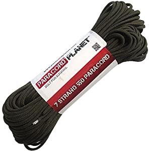 Paracord Planet 100' 550lb Type III Olive Drab Paracord